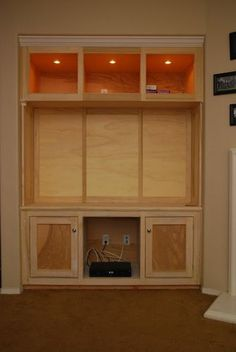 Entertainment Center #1: Built in Entertainment Center - by Luke @ LumberJocks.com ~ woodworking community