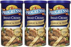 Progresso Bread Crumbs - Garlic and Herb - 15 oz - 3 ct * See this great product.