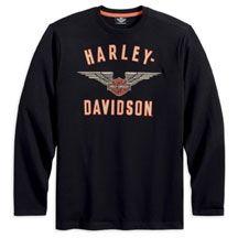 Harley-Davidson Mens Long Sleeve Winged Performance Knit Tee