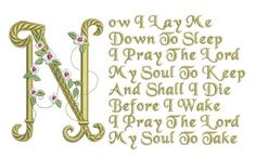 Children's Prayers - Machine embroidery designs from artist and illustrator Teriann Shrum. Basic Embroidery Stitches, Machine Embroidery Patterns, Embroidery Ideas, Hand Embroidery, Childrens Prayer, Brother Embroidery Machine, Prays The Lord, Prayers For Children, Blanket Stitch