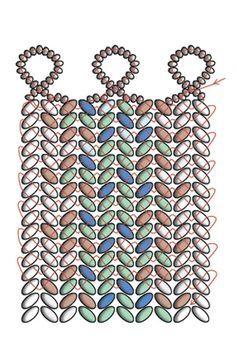 Herringbone with superduos. CosplaySupplies.com -- Tutorials > Twin Beads Tweed Bracelet