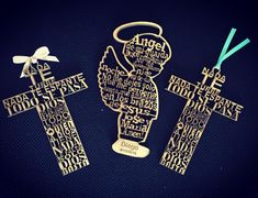 For baptisms and first communions  wood cutout prayers in your desired shape…