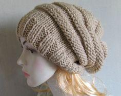 Slouchy Hat Winter Hat Knit Hat Slouchy Beanie Gift by Ebruk
