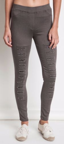 Umgee Women's Distressed Jeggings/Leggings in Reg and Plus Olive) High Waist Jeggings, High Waisted Flares, Wine Pants, Distressed Leggings, Bohemian Pants, Kick Flare Jeans, Denim Branding, Leggings Are Not Pants, Women's Pants