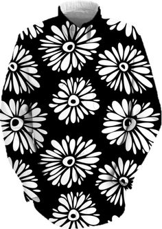 Funky black and white flowers by silvianna