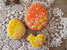 Beautiful gingerbread set / Кулинарные сувениры ручной работы. Ярмарка Мастеров - ручная работа. Купить Пасхальные яйца и птичка. Пасхальные пряники.. Handmade. Разноцветный