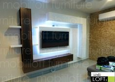 Lcd Wall Design, Pvc Ceiling Design, Bedroom False Ceiling Design, Wall Unit Designs, Living Room Tv Unit Designs, Modern Tv Wall Units, Tv Unit Furniture, Rack Tv, Stairs In Living Room