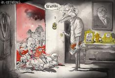 Look What Campbell Brings, David Rowe, Financial Review | Political Cartoons Australia