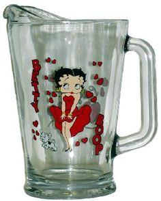 Betty Boop Glass Pitcher