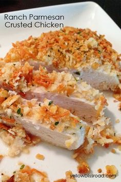 Ranch Parmesan Crusted Chicken Recipe! Dinner at my house tomorrow!