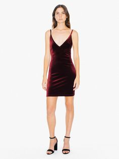 A bodycon silhouette constructed from stretch velvet for a soft, touchable feel and long-wearing comfort. The Velvet Bixel Dress features spaghetti straps, deep V neckline, deep side cutouts, low back with caged strap details, and fitted body at mini length. This dress wears true to size with moderate stretch and form-fitting wear.