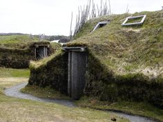Discover L'Anse Aux Meadows in Saint Lunaire-Griquet, Newfoundland and Labrador: An ancient Viking village in North America that predates Columbus by 500 years. Newfoundland Canada, Newfoundland And Labrador, L'anse Aux Meadows, Viking Village, Ancient Vikings, Ancient Aliens, Ancient History, Viking Age, Viking House