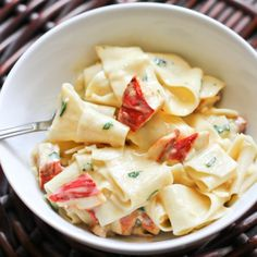 Pappardelle Alfredo with Lobster Mushrooms