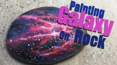 How to paint cat on branch (silhouette) . It is painted on rock. Purple background of night. I ussed acrylic colors - purple and its lighter and darker shade. Galaxy Crafts, Diy Galaxy, Rock Painting Patterns, Rock Painting Designs, Dot Painting On Rocks, Pebble Painting, Space Painting, Galaxy Painting, Silhouette Painting