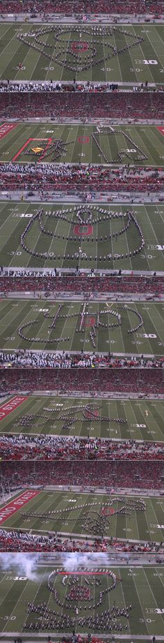 OSU Marching Band's Superman, Lord Of The Rings, Harry Potter And Jurassic Park Themed Halftime Show