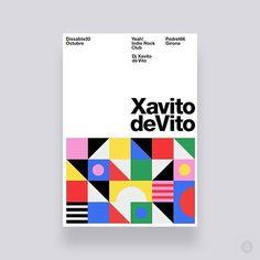 Xavito deVito DJ poster for Web Design, Icon Design, Layout Design, Layout Inspiration, Graphic Design Inspiration, Daily Inspiration, Text Poster, Art Studio Design, Graphic Design Books