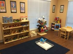 Tours and pics of play therapy area, sand tray area, and consultation room in office