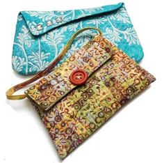 These little evening bags make great accessories, as you can construct them in any fabric to match your holiday ensemble, whether it's funky or elegant, ar