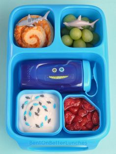 Shark lunch in Goodbyn Hero lunchbox - available from www.thelunchboxqueen.co.nz