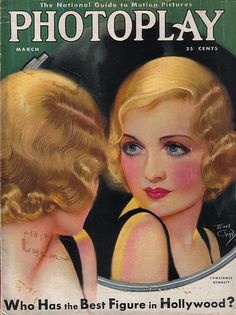 The beautiful March 1931 cover of Photoplay magazine featuring Constance Bennett.