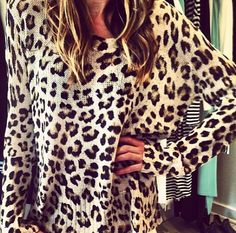 leopard knit, love these animal prints