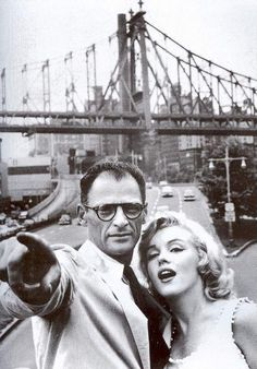The famous playwright Arthur Miller and Marilyn Monroe.