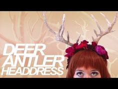 Deer Antler Headdress Tutorial: Cheap and Easy Halloween Costume - YouTube