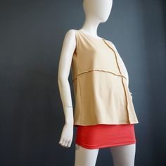 Milk & Honey – iheartfink Womens Handmade Solid Color Edgy Modern Minimal Top