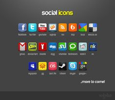 Social #Icons Pack