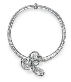 A DIAMOND AND PLATINUM NECKLACE, BY MAUBOUSSIN
