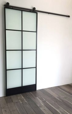 8 Window Glass Door - Black- This beautiful 8 window thin black framed barn door is the perfect accent to any interior, whether it be a rustic farmhouse or a new modern masterpiece. If you are looking for a glass barn door with a black steel frame lo Glass Barn Doors, Glass Door, Window Glass, The Doors, Windows And Doors, Front Doors, Barn Door Track System, Black Window Frames, Steel Barns