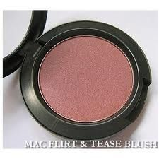 MAC: Flirt and tease blush, favorite blush of all time!