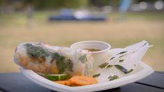 My Kitchen Rules Recipe - Kim & Suong's Pork & Prawn Rice Paper Rolls Sibas Table Recipes, My Kitchen Rules, Masterchef Australia, Rice Paper Rolls, Vermicelli Noodles, Asian Recipes, Ethnic Recipes, Prawn, Fresh Rolls