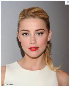 Clean, classic & pretty. Love the full eyebrows and light hair