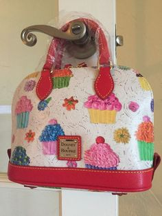 Dooney Bourke Cupcakes Bitsy Bag White Red CT22A | eBay