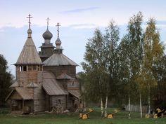Wooden churches near Birches.