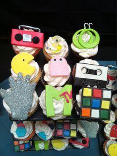 80's cupcakes!