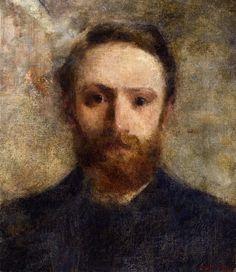 Self portrait of the French artist Edouard Vuillard (1868-1940) - Style:Impressionism 1889