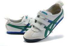 Mens Asics Onitsuka Tiger Baja Mexico 66 Shoes White Green Blue