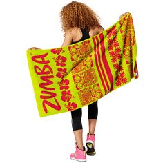 ZUMBA VIBES BEACH TOWEL -------- The tropics are calling and the Zumba Vibes Beach Towel! This ultra soft accessory is great for the pool, beach and our very own Zumba® Cruise!