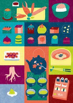 Favorite Things - May 2013 Graphic Design Illustration, Illustration Art, Homemade Books, Pinterest Instagram, Retro Illustrations, Food Patterns, Graphic Patterns, Kitchen Art, All Art