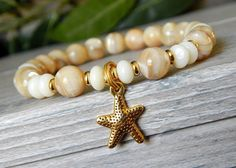 Mother of Pearl Bracelet with Starfish Charm