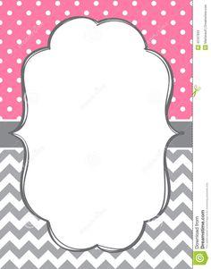 File Name : invitation-card-template-polka-dot-chevron-background ...
