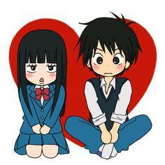 Kawaii chibi Sawako and Kazehaya <3 #KiminiTodoke