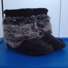 Fall boots or slippers Faux fur fall boots. Or if you want a warmer slippers these are perfect. Harder sole to be able to wear outdoors if needed or wanted. Keeps your feet very warm Mossimo Supply Co. Shoes Moccasins