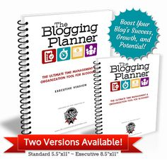 The Blogging Success Planner - made to help manage your editorial calendar, giveaways, income, expenses, ideas and more. Buy it here - http://bloggingplanner.com?ap_id=foodfamilyfinds