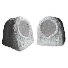 Acoustic Audio RS6GG Outdoor Garden Waterproof Granite Rock 500-watt Patio Speaker Pair