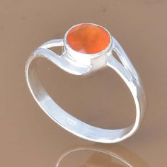 925 SOLID STERLING SILVER EXCLUSIVE RED ONYX RING 2.13g DJR7382 #Handmade #Ring