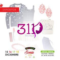 Gracias 311 BOUTIQUE por participar en Nuestra Feria Sonrie: es Navidad. Sígue a 311 BOUTIQUE en: https://www.facebook.com/boutique311peru?fref=ts encuentra esto y más Haz Click y conoce nuestra Web ▶ http://www.feriasonrie.com/ No te pierdasNuestra #GranFeriaNavideña. Sonríe es Navidad