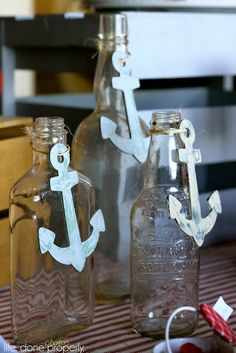 For the Love...: Nautical Baby Shower would be adorable with little note rolled up inside